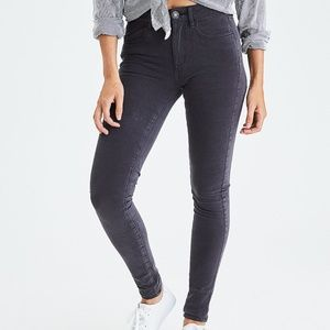 American Eagle 16 Faded Gray Hi Rise Jegging Jeans
